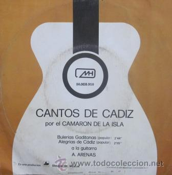 Discos de vinilo: CAMARÓN DE LA ISLA - 1971 - Foto 2 - 28968038