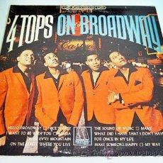 Discos de vinilo: LP FOUR TOPS ON BROADWAY ORIGINAL MOTOWN 1965 DISCO Y PORTADA VG+ MUY RARO. Lote 28973500