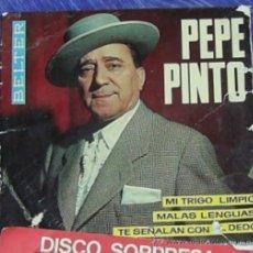 Discos de vinilo: CARATULA DE DISCO DE VINILO DE PEPE PINTO . Lote 28973671
