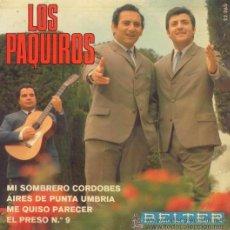 Discos de vinilo: LOS PAQUIROS - 1968. Lote 28974697