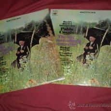 Discos de vinilo: PABLO CASALS CONCIERTOS DE BRANDENBURGO BACH 2 LPS CBS SPA VER FOTO ADICIONAL. Lote 28988490