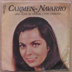 Discos de vinilo: CARMEN NAVARRO. COPLA CANCION ESPAÑOLA. UNA COPA DE CRISTAL. DISCOPHON. Lote 29008187