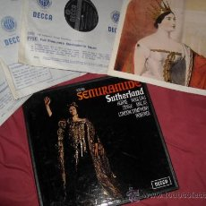 Discos de vinilo: BONYNGE,ROSSINI . SUTHERLAND . HORNE, SEMIRAMIDE CAJA 3 LP MAS LIBRETO EN INGLES 1966 DECCA S. Lote 29010941