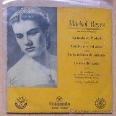 Discos de vinilo: MARISOL REYES. COPLA CANCION ESPAÑOLA. LA NOVIA DE MADRID. COLUMBIA. Lote 29011304