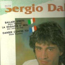 Discos de vinilo: SERGIO DALMA CANTA EN FRANCES Y ITALIANO MAXI-SINGLE SELLO HORUS AÑO 1991. Lote 29014310