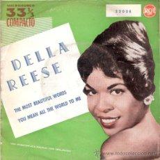 Discos de vinilo: DELLA REESE - THE MOST BEAUTIFUL WORDS / YOU MEAN ALL THE WORLD TO ME (33 RPM SINGLE) RCA 1961 PROMO. Lote 29015441