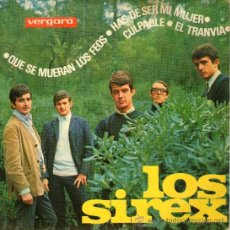 """Discos de vinilo: LOS SIREX - EP SINGLE VINILO 7"""" - QUE SE MUERAN LOS FEOS + 3 - VERGARA 1965. Lote 29024539"""
