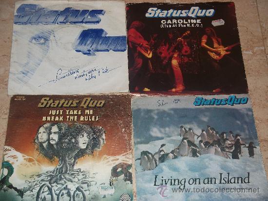 LOTE DE CUATRO SINGLES STATUS QUO - (Música - Discos - Singles Vinilo - Pop - Rock - Extranjero de los 70)