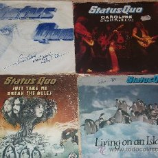 Discos de vinilo: LOTE DE CUATRO SINGLES STATUS QUO -. Lote 29027942
