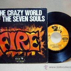 Discos de vinilo: DISCO DE VINILO, THE CRAZY WORLD OF THE SEVEN SOULS, SN-20152, SONOPLAY, 45 RPM, 2 TEMAS, 1968, . Lote 29034601