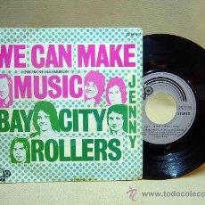 Discos de vinilo: DISCO DE VINILO, WE CAN MAKE MUSIC, BAY CITY ROLLERS, JENNY, 20 08 040, 45 RPM, 2 TEMAS, BELL, 1972. Lote 29034833