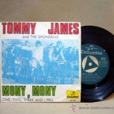 Discos de vinilo: DISCO DE VINILO, TOMMY JAMES, MONY, MONY, COLUMBIA, ME 443, 2 TEMAS, 45 RPM, 1968. Lote 29052287