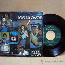 Discos de vinilo: DISCO DE VINILO, LOS BRAVOS, PEOPLE TALKING AROUND, 1º PREMIO BARBARELA 70, COLUMBIA, MO 1012, 1970. Lote 29066852