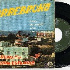 Discos de vinilo: TORREBRUNO - II FESTIVAL DE LA CANCION ESPAÑOLA - BENIDORM 1960. Lote 29225178