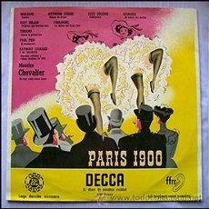 Discos de vinilo: PARIS 1900 . LP . DECCA 1955 (200 EJEMPLARES) MUY RARO. Lote 29033668
