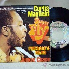 Discos de vinilo: DISCO DE VINILO, CURTIS MAYFIELD, SUPER FLY, 20 11 152 A, BUDDAH RECORDS, 2 TEMAS, 45 RPM, 1972. Lote 29048787