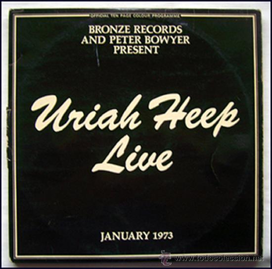URIAH HEEP. LP. DOBLE. LIVE. JANUARY 1973. (Música - Discos - LP Vinilo - Pop - Rock - Internacional de los 70)