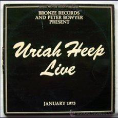 Discos de vinilo: URIAH HEEP. LP. DOBLE. LIVE. JANUARY 1973.. Lote 29053187