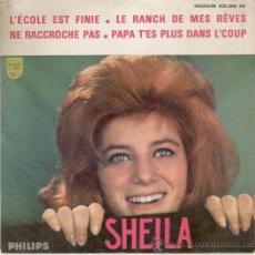 Discos de vinilo: SHEILA - L'ECOLE EST FINIE ( LA CLASE ACABO) + 3 - EP AÑOS 60. Lote 29054092