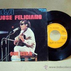 Discos de vinilo: DISCO, SINGLE, VINILO,JOS FELICIANO, QUE SERA, RCA, 1971, 3 10596, 2 TEMAS. Lote 29136759