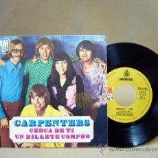 Discos de vinilo: DISCO, VINILO, SINGLE, CARPENTERS, CERCA DE TI, H 618, AM RECORDS, 1970. Lote 194664781