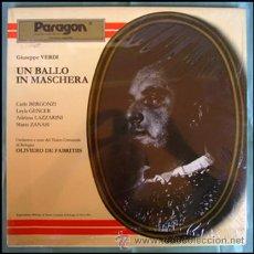 Discos de vinilo: GIUSEPPE VERDI . 2 LP'S . UN BALLO IN MASCHERA . 1961 . NUEVO. Lote 29085664