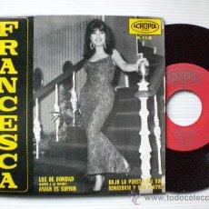 Discos de vinilo: FRANCESCA - CHICA YE-YE .-LUZ DE BONDAD - EP ACROPOL 1968 - NUEVO A ESTRENAR LIQUIDACION. Lote 29207896