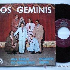 Discos de vinilo: LOS GEMINIS - UNA PAREJA - EP BERTA 1972 - PROMOCIONAL A ESTRENAR MUY RARO LIQUIDACION. Lote 29096436