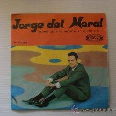 Discos de vinilo: JORGE DEL MORAL CHICO YE-YE - COMO LLEGA EL AMOR -SINGLE SONOPLAY 1966 A ESTRENAR. RARO OFERTA. Lote 29098148