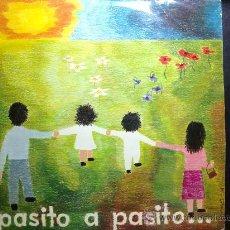 Discos de vinilo: PASITO A PASITO - 12 CANCIONES INFANTILES - CANTAN: NIÑAS DEL COLEGIO PUREZA DE MARÍA, BILBAO - LP. Lote 133968659