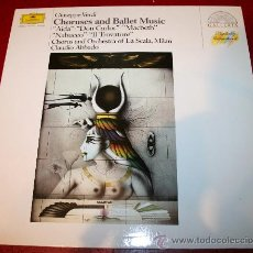 Discos de vinilo: LP - GIUSEPPE VERDI - CHORUSES AND BALLET MUSIC - ORCH. DE LA SCALA, CLAUDIO ABBADO. Lote 29181292