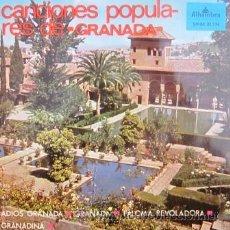 Discos de vinilo: CANCIONES POPULARES DE GRANADA - CORO DEL SALVADOR DE GRANADA - EP - 1966. Lote 29129853