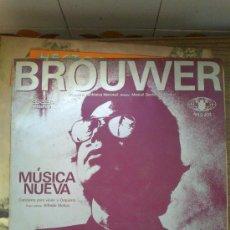 Discos de vinilo: MUSICA NUEVA CARLOS FARIÑAS BROUWER NUEVA TROVA CUBA EGREM. Lote 35627877