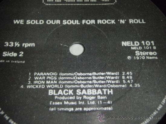 Discos de vinilo: BLACK SABBATH ( WE SOLD OUR SOUL FOR ROCK N ROLL ) DOBLE LP33 ENGLAND-1982 NEMS - Foto 5 - 29156814