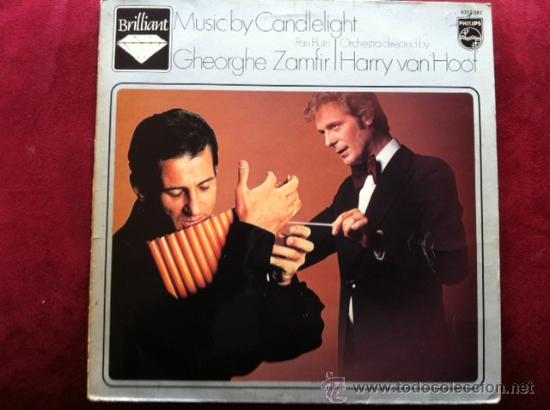 MUSIC BY CANDELIGHT- GHEORGHE ZAMFIR (PAN FLUTE) - LP . PHILIPS HOLANDA, 1979 (Música - Discos - LP Vinilo - Étnicas y Músicas del Mundo)