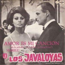 Discos de vinilo: LOS JAVALOYAS - AMOR ES MI CANCION / MARILU (45 RPM) EMI 1967 - VG++/VG++. Lote 29163922