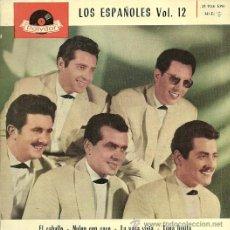 Discos de vinilo: LOS ESPAÑOLES VOL.12 EP SELLO POLYDOR AÑO 1962. Lote 29169900