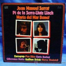 Discos de vinilo: LP - SERRAT / PI DE LA SERRA / LLACH / MAR BONET / PAU RIBA / G. MOTTA......- ED.GRAMISIC - AÑO 1976. Lote 29171158