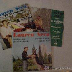 Discos de vinilo: LAUREN VERA. LOTE 3 EPS. AUDIO AÑOS 1974 PROMOCIONALES, RAROS A ESTRENAR. VER FOTOS + INFOR OFERTA. Lote 29644997