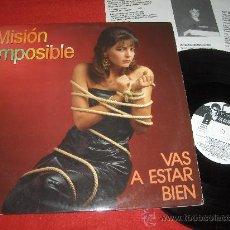 Discos de vinilo: MISION IMPOSIBLE SE PROHIBE CANTAR Y BAILAR LP 1987 MOVIDA POP. Lote 29183896