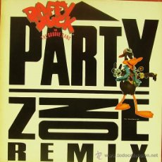 Discos de vinilo: DAFFY DUCK FEATURING THE GROOVE GANG-PARTY ZONE MAXI SINGLE VINILO 1991 SPAIN. Lote 29196514