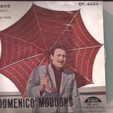 Discos de vinilo: EP-DOMENICO MODUGNO-PIOVE-FONIT 4334-ITALIA-196???-VINILO GRIS-. Lote 29198206