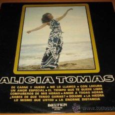 Discos de vinilo: ALICIA TOMAS - DE CARNE Y HUESO - 1º LP - BELTER 1973 SPAIN 22.750 - NEAR MINT. Lote 29213468
