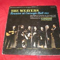 Discos de vinilo: LP-THE WEAVERS-VANGUARD 9130-USA-1963-FOLK-PETE SEEGER-PORTADA ABIERTA. Lote 29209306