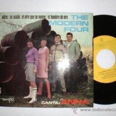 Discos de vinilo: THE MODERN FOUR CON ANNA. ADIOS +3. EP TEMPO 1967. NUEVO A ESTRENAR. RARO EN OFERTA. Lote 29224892