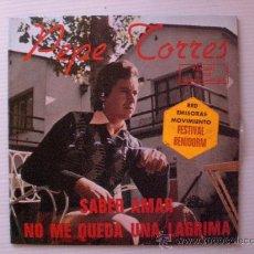 Discos de vinilo: PEPE TORRES, SABER AMAR FESTIVAL BENIDORM. SINGLE PALOBAL 1975, NUEVO A ESTRENAR OFERTA. Lote 45058547