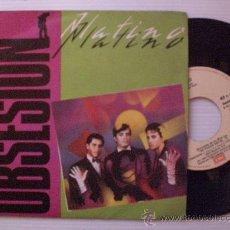 Discos de vinilo: PLATINO, OBSESION, MOVIDA, SINGLE EMI 1983, NUEVO. Lote 29232759