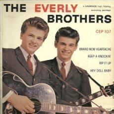 Discos de vinilo: THE EVERLY BROTHERS EP SELLO CADENCE ORIGINAL AMERICANO. Lote 29234279