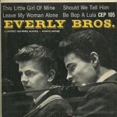 Discos de vinilo: THE EVERLY BROTHERS EP SELLO CADENCE ORIGINAL AMERICANO. Lote 29234286
