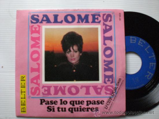 SALOME, PASE LO QUE PASE FESTIVAL DÒR CHECOSLOVAQUIA, SINGLE BELTER 1968. NUEVO A ESTRENAR EN OFERTA (Música - Discos - Singles Vinilo - Otros Festivales de la Canción)
